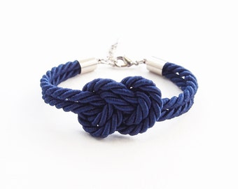 Nautical wedding gift - infinity knot rope - navy wedding gift - bridesmaids bracelet - wedding favors - will you be my bridesmaid gift