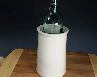 Wine chiller white Utensil crock