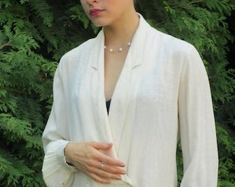 1970s Bullock's Wilshire Long-sleeved Blouse - Imported Silk