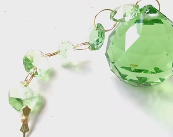Spring Green Ball 30mm Ornament Chandelier Crystal