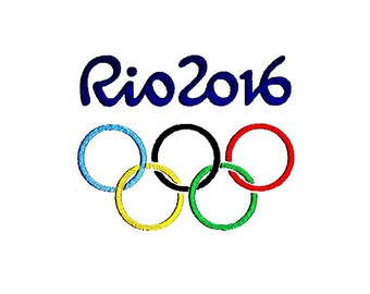 Olympic / Paralympic Games Embroidery Designs. Olympic Rings Rio 2016 Brazil