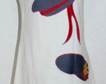 1960s Appliquéd Sailor Shift Dress