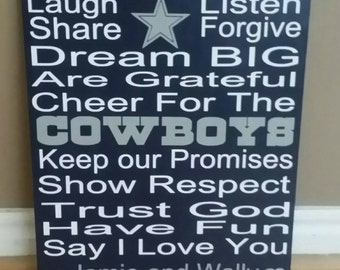 Dallas Cowboys, Cowboy Decor, In This House wood sign, Sports Decor, Football