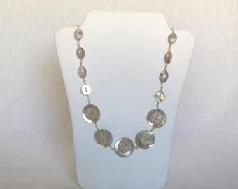 Necklace, Button Necklace, Buttons - Buttons Rock