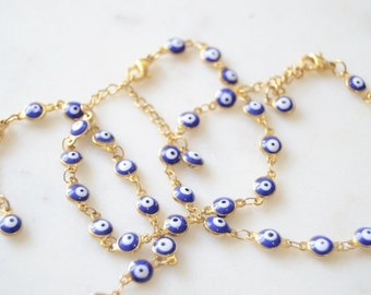 Blue Evil Eye Bracelet - Cobalt Blue