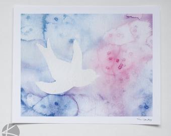 Bird - Watercolor print 8 X 10