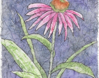 Notecards, Batik Prints:  coneflower, hummingbird, daisies, poppies
