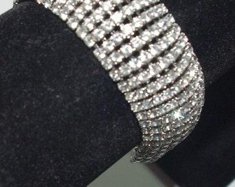 Joan Rivers Bracelet - Rhinestone Bracelet in Silver Tone - S1872