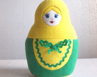 Russian doll, Matryoshka, russian plush, doll russia, matryoshka doll, stuffed toy, art doll, russian girl doll, matryoshka toy