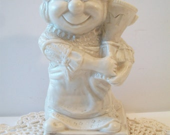 Vintage Russ Berrie Sillisculpt Worlds Best Mother 1970 Mothers Day Gift Retro Kitsch