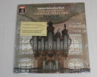 The Arnstadt Chorale Preludes - Bach - Werner Jacob LP Record Album DSB-3986