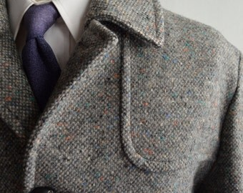SALE Vintage Grey Donegal Flecked Wool Coat by Pendleton Size 42