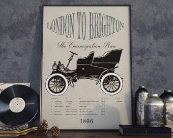 London to Brighton. High Quality Print.