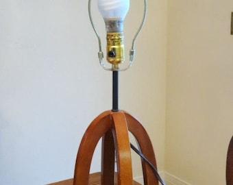 Wood Table Lamp 4 legged Base