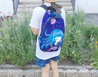 Jellyfish girl backpack