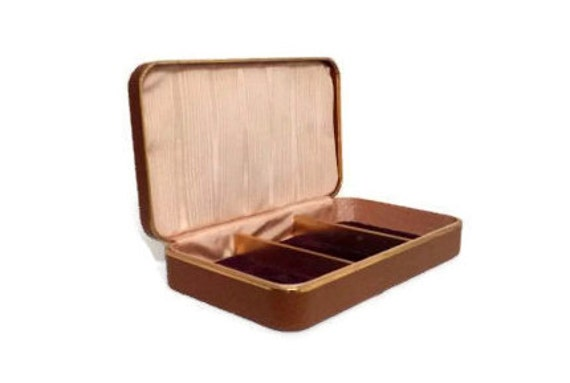 brown leather jewelry box s faux leather by atomicphenomic