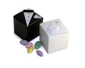 Bride Groom Wedding Favor Boxes; Bride Bridal Favor Box; Party Supply Box; Wedding Favor