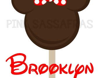 Minnie Ice Cream Iron On Transfer