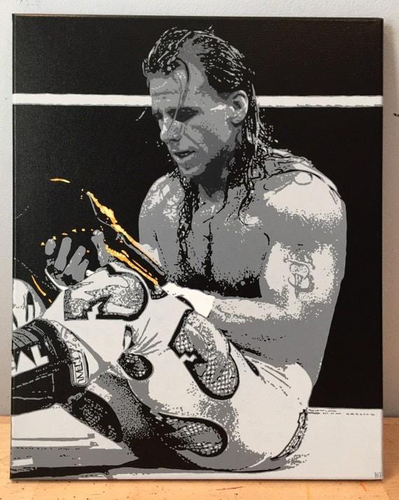 "Shawn Michaels Custom Pop Art Painting 16""x20"" Canvas"