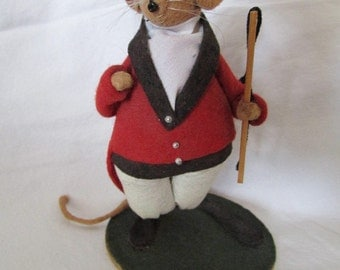 "charming dolls vintage 1980's DIANE FREEMAN DESIGNS ""Percy"" the huntsman doll Made in England 5B"