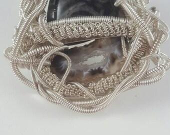 Zebra Jasper - Ombre - Agate Geode Slice - Druzy - Gemstone Jewelry - Boho Jewelry - Hippie Jewelry - Hipster Jewelry