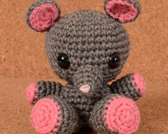 Squeakers the Mouse Crochet Toy Doll