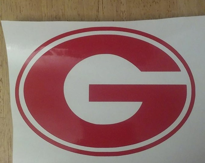 Football Team G Georgia Bulldogs Greenbay Packers Vinyl Decal