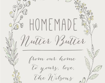 """Homemade Favor Labels (2""""x3"""") WHITE or KRAFT, Shower Thank You Labels, Canning Labels, Rustic Wedding Champagne Labels, Homemade Jam Labels"""