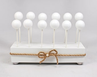 Rustic Cake Pop Stand White Wedding