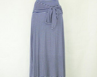 Women's Plus Size High Waist stripe Skirt with lining. Small to 6X.