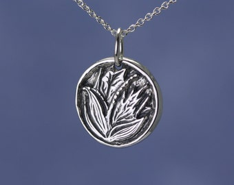 Sterling Silver Lily of the Valley Charm – Artisan Sterling Silver Charm – Sterling Silver Flower Jewelry – Sterling Silver Flower Charm