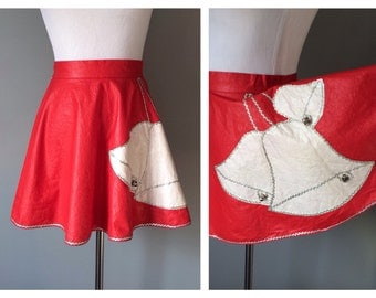Vintage 1950's Red Christmas Apron Silver Ric Rac Trim White Bells Kitschy Kitchen Half Apron 50s Holiday Silver Bells Pinup Small 1950s