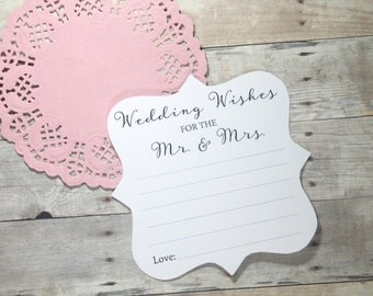Wedding Advice Cards (Set of 10) - Wedding Wishes for the Mr and Mrs - White Advice Cards - Bride & Groom - Rustic Wedding - Wish Cards