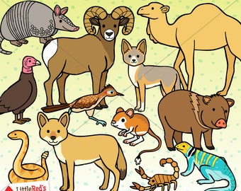 Desert Animals Clip Art