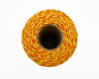 Orange and Yellow Baker's Twine 100m - Bright Two Tone Packaging String - 2mm