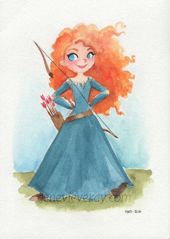 brave watercolor by bezawesome - photo #10
