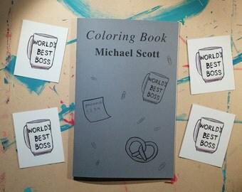 Michael Scott Coloring Book, The Office TV Zine, Illustration TV Art