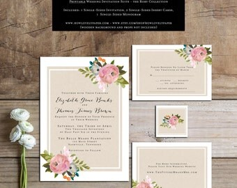 Printable Wedding Invitation Suite - the Rory Collection - Wedding Invitation - Printable Wedding Invitation - Wedding Invitation Suite