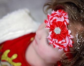 Christmas Candy Cane Headband, Candy Cane Bow, Red Headband, Christmas Headband, Christmas Hair Bow, Candy Cane Headband, Candy Cane Shirt