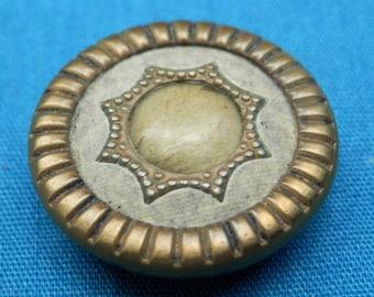 Vintage Metal Celluloid Button