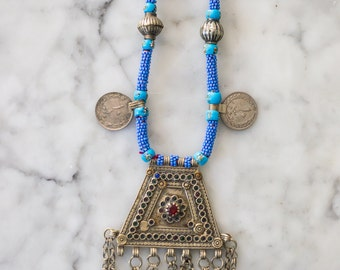 Stunning Silver and Beaded Necklace