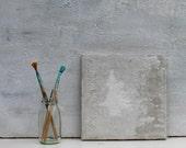 "Abstract Painting, shades of grey, 8x8x0,6"", art painting, acrylic painting, impasto contemporary art, impasto art, germany, grey, concrete"