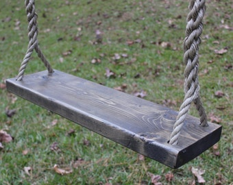 Rustic Tree Swing, Weathered Gray Distressed Finish