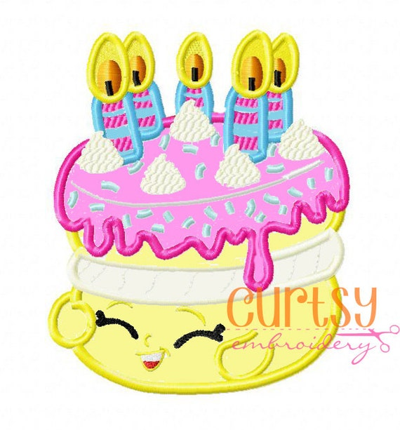 Wishes Birthday Cake Inspired Embroidery Design