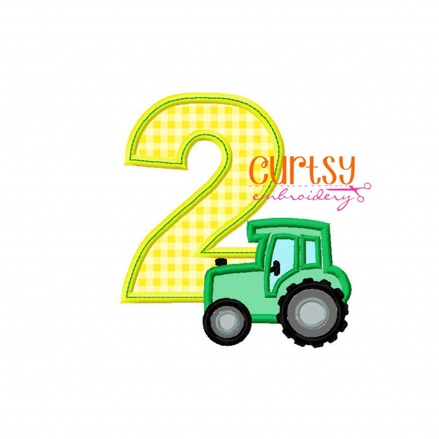 Embroidery Design Tractor Girl