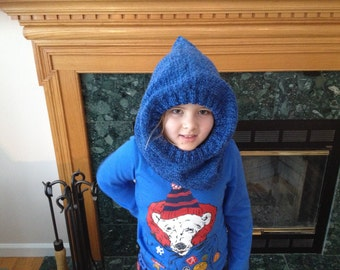 Knit Hooded Cowl (Child)