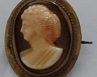 Vintage shell cameo