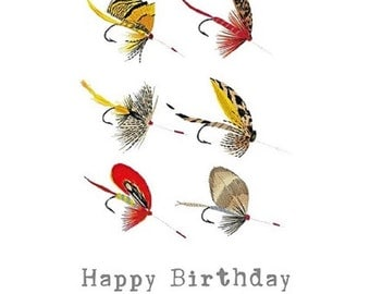 Fly Fishing Greetings Card