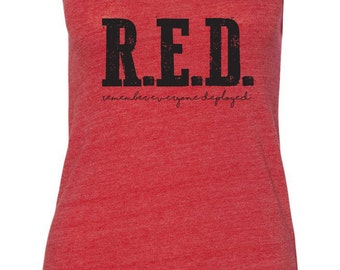 FREE Shipping! Red friday tank, Remembering everyone deployed, Military wife, fiance, girlfriend, deployed