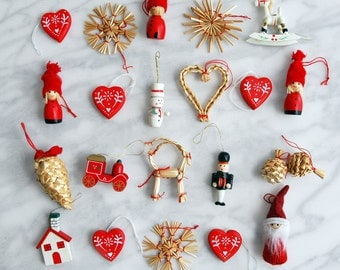 Scandinavian ornaments for Advent calendar